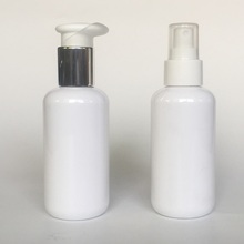 150ml white round shape bottle with aluminum pump