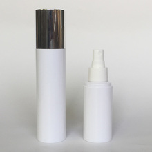 PET milk white bottle with spray aluminum cover