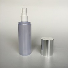 Pearl white 120ml bottle with spray pump and aluminum cover