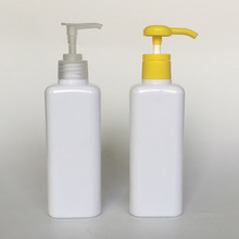 White square shampoo pump bottle