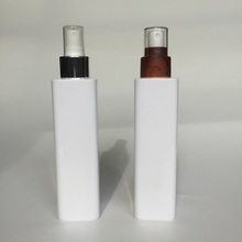 180ml PET cosmetic square bottle with spray pump