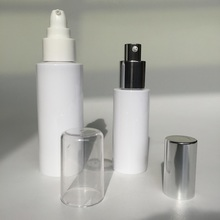 80ml 100ml cylinder bottle with pump aluminum cover