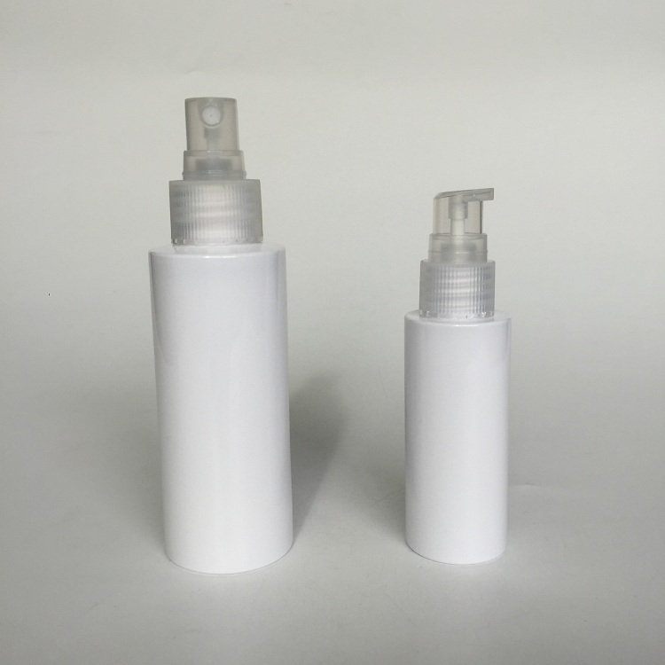 white cosmetic bottle with mist spray custom print