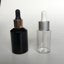 PET cosmetic dropper bottle 30ml 50ml color custom made