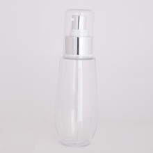 60ml flat shoulder bottle china production pet bottle with mist spray and flip cap
