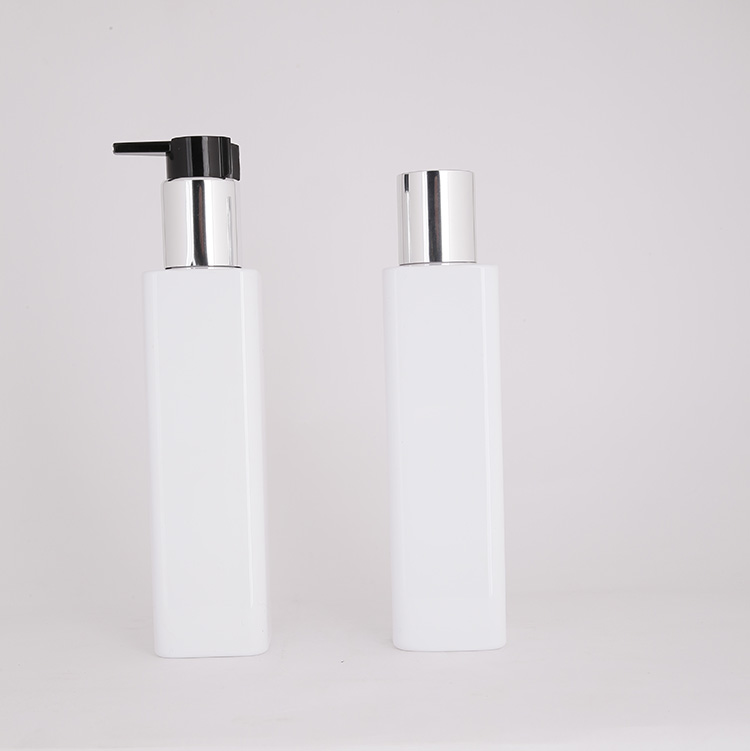 180ml square bottle with alumite pump body lotion bottle manufacturers