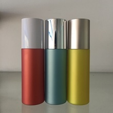 150ml pantone color cylinder pet bottle with custonm print with pump lids plastic container cylinder