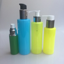200ml custom print cylinder bottle PET bottle with lids spray pump cylinder spray bottles