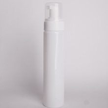 200ml white cylinder plastic foam pump bottle