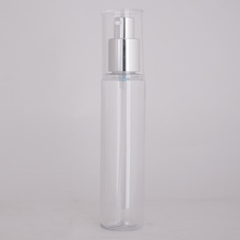 200ml frosted clear plastic bottle with screw cap