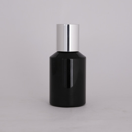 30ml round PET bottle black color cap plastic bottle