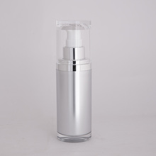 empty luxury airless 100 ml pet pump lotion bottle