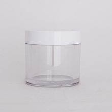 30ml round transparent hair wax jar