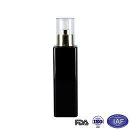 200ml square black spray pet bottle