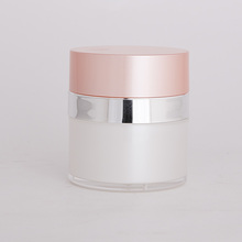 20ml frosted double wall pink jar
