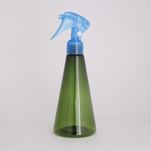colorful multiple capacity PET plastic bottle with trigger spray