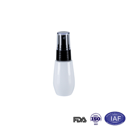 50ml white oval refillable bottle