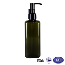 180ml new product square green lotion bottle with pump
