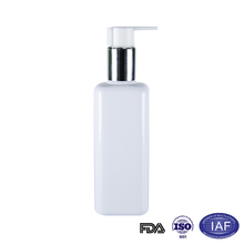 200ml new product square white pet lotion pump bottle