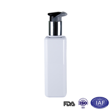 150ml matte square white pet lotion bottle with pump