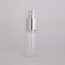 30ml clear travel cosmetic spray bottle with aluminum cap