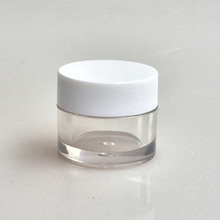 20ml clear petg lotion jar with white cap