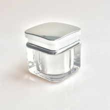 5g acrylic square cosmetic cream jar with cap