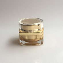 15g plastic gold acrylic jar with cap