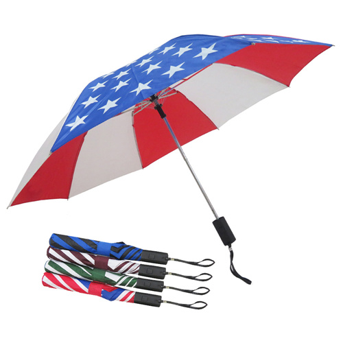2 Fold Water Proof  Rain Sun Protection Umbrella For Men And Women