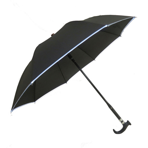 long handle umbrella crutch umbrella self defense skid climbing walking stick umbrella