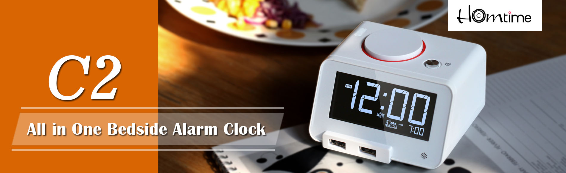 Alarm clock with USB charger   alarm clock with bluetooth speaker
