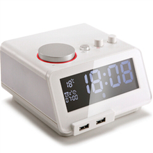 C12  alarm clock radio iphone charger dock station