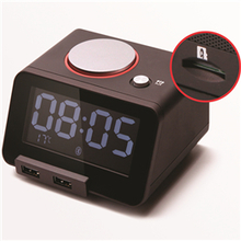 C1pro Homtime Bluetooth Speake with Alarm Clock,Dual USB Charger and Temperature Function
