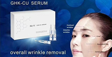 GHK-CU Serum can aging skin problems since it is rich in mutiple oligopeptides with high purity