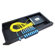 19 inch 1U Rack Mounted FTTH 1*16 Optical  PLC Splitter