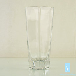 Wholesale handicraft blown art cube shape clear acrylic glass flower vases