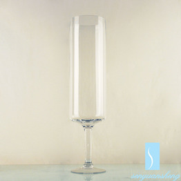 Cheaper Tall Handmade Large Cylinde Clear Glass Vase