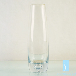 Handmade Crystal Glass clear Vase with round bottom for wedding flower arrangement