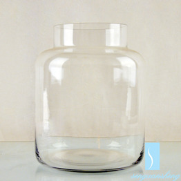 Home decoration cheap table clear jar flower glass vases for centerpiece