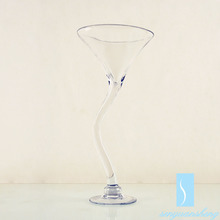 Factory price chinese clear types of flower glass vase