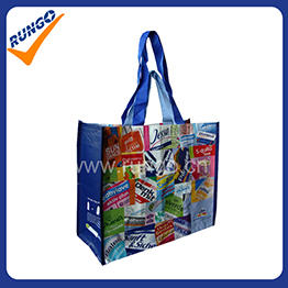 Resuable PET shopping bag with double handles