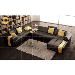 Milano G Corner Leather Sofa For L Shape