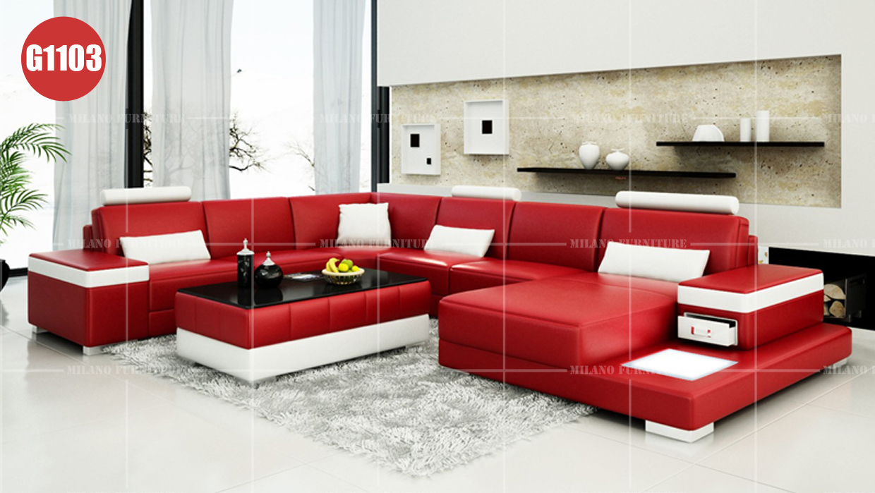 Product Milano G1103 U Shape Sofa Sofa Leather Corner