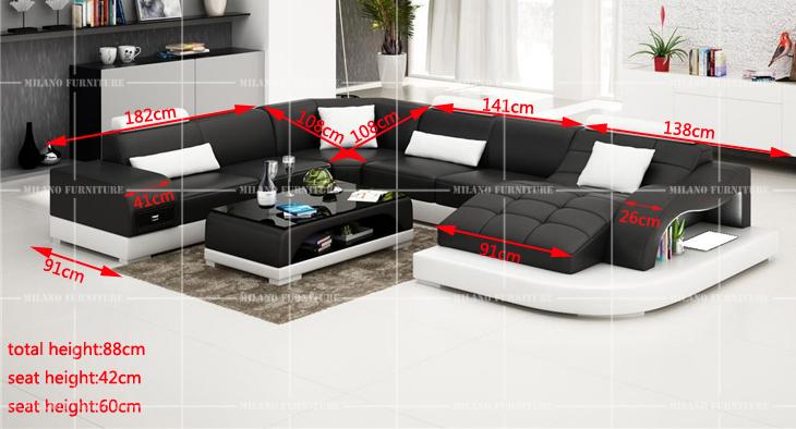 Product milano g1105 u shape sofa sofa prado modern for Product designer milano