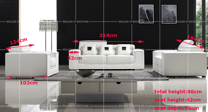 Product milano f6051 1 2 3 sofa set sofa corner leather for Product designer milano
