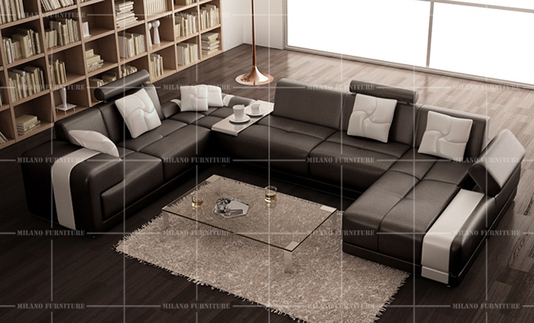 Product Milano G1009 U Shape Sofa Sofa Corner Leather