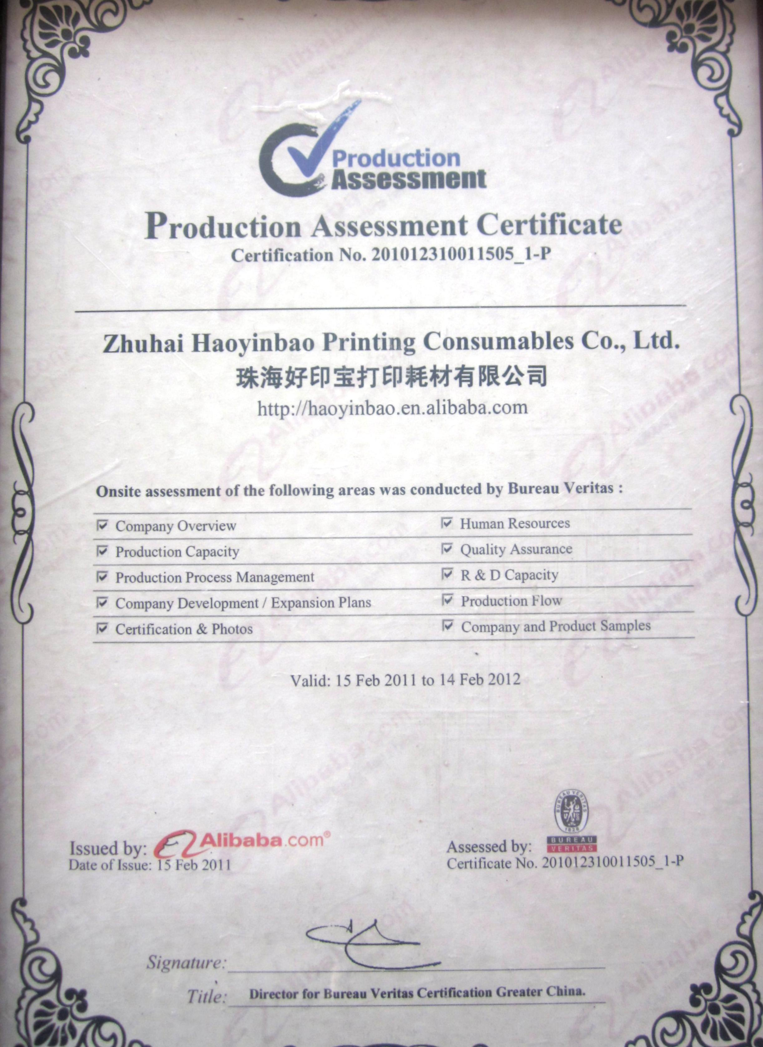 CERTIFIED MANUFACTURER