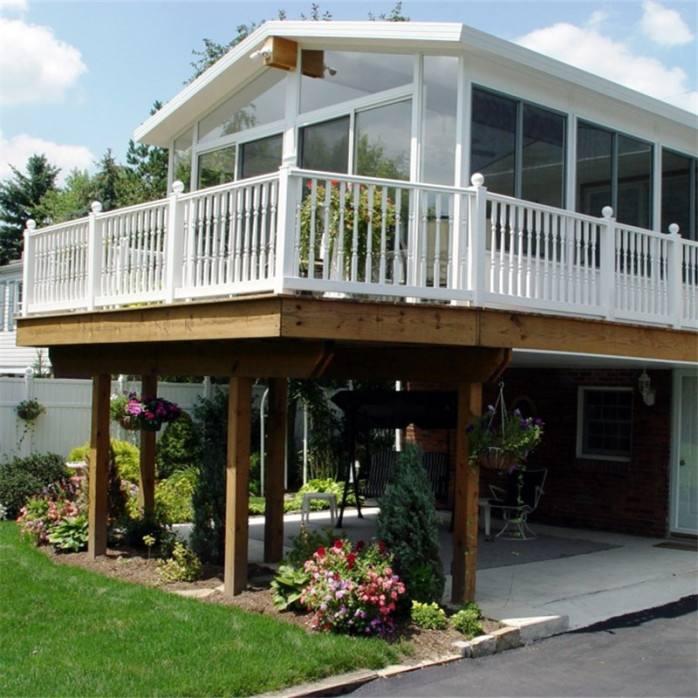 Lightweight steel structure villas