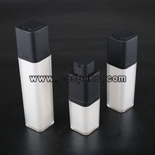 Pearl White Airless Bottle for cosmetic with Square Rotary Pump ZA51