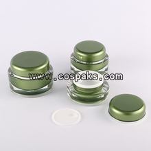 15 ml 30 ml 50 ml Deep Sea Green Plastic Jar Packaging